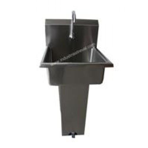 Lavamanos de pedestal respaldo alto con sistema de pedales for Lavamanos con pedestal
